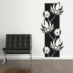 Kakshyaachitra Artisitic Lotus Wall Stickers For Bedroom And Living Room, 42 96 inches
