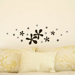 Wall Stickers Home Decor Line Squeeze Flowers - 59505