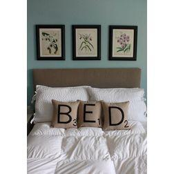 Bed Cushion Cover MYC-47, 3 pcs, beige