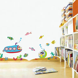 Wall Stickers For Kids TC Under the sea Submarine DP08066