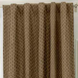 Lusture Geometric Readymade Curtain - RHO107, brown, window