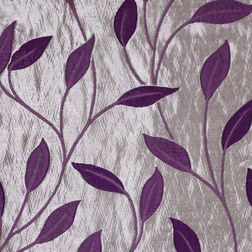 Roseberry Floral Curtain Fabric - 26, purple, fabric