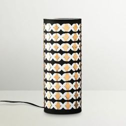 Aasra Decor Black and Golden Abstract Pillar Lamp Lighting Table Lamp, multicolor