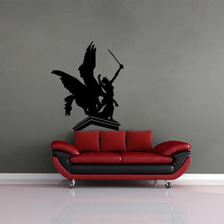Kakshyaachitra Warrior Princess Wall Stickers For Bedroom And Living Room, 19 24 inches