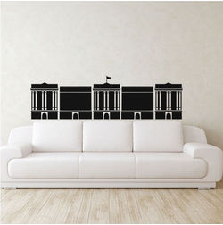 Kakshyaachitra Parliament Wall Stickers For Bedroom And Living Room, 24 7 inches