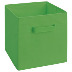 Storage Cube Box,  lime green cube