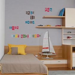 Wall Sticker For Kids Home Decor Line Alphabet - 43006