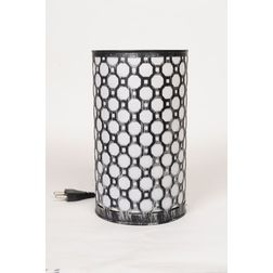 Aasra Decor Octagon Lamp Lighting Table Lamp, silver