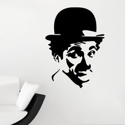 Kakshyaachitra Charlie Chaplin Wall Stickers For Bedroom And Living Room, 48 65 inches