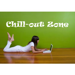 Kakshyaachitra Chill Out Zone Wall Stickers For Bedroom And Living Room, 12 48 inches