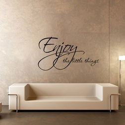 Kakshyaachitra Enjoy the Little Things Wall Stickers For Bedroom And Living Room, 24 15 inches