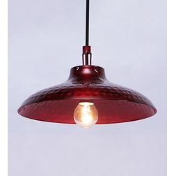 Aasra Decor Red Illuminous Pendant Lamp Lighting Ceiling, red