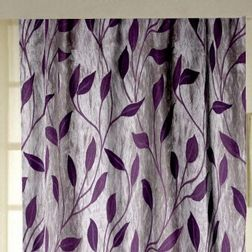 Roseberry Floral Readymade Curtain - 26, long door, purple