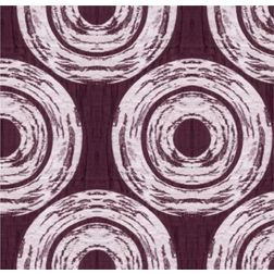 Ramkhao Geometric Readymade Curtain - 5, purple, window
