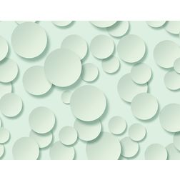 Elementto Creative Circle Design Modern 3D Wallpaper for Walls - td32100, green