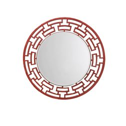 Aasra Decor ChainLink Mirror Decor Wall Mirror, orange