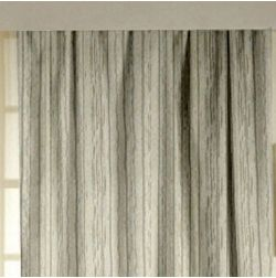 Lusture Stripes Readymade Curtain - 105, door, grey