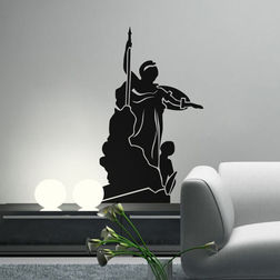 Kakshyaachitra Athena Wall Stickers For Bedroom And Living Room, 15 24 inches