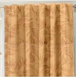 Constellation Floral Readymade Curtain - AL104, long door, brown
