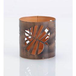 Aasra Decor Peepal Leaf Candle Votive DecorVotives, orange