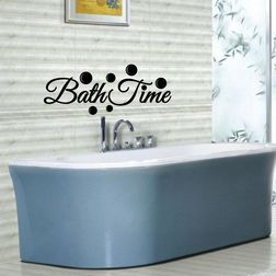 Kakshyaachitra Bath Time Wall Stickers For Bedroom And Living Room, 24 9 inches