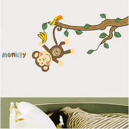 Children Wall Stickers TC Cute Monkey DS08219