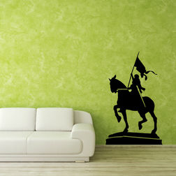 Kakshyaachitra Warrior Queen Wall Stickers For Bedroom And Living Room, 24 40 inches