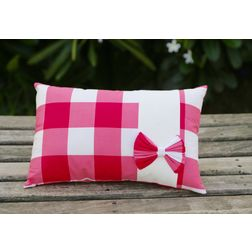 Pink Bow Cushion Cover MYC-13, pack of 1, pink