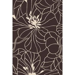 Floor Carpet and Rugs Hand Tufted, AC Concept Abstract Brown Carpets Online - ACR (28) -L, 3ftx5ft, brown