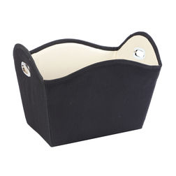 Black Nylon Towel Basket,  black