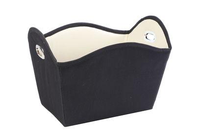 Black Nylon Towel Basket,  black