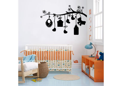 Kakshyaachitra Babies Gifts Hanging on Tree Kids Wall Stickers, 48 30 inches