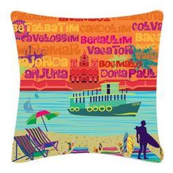 The Elephant Company Goa Beaches Home Cushion Covers, multi