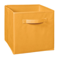 Storage Cube Box,  mustard cube