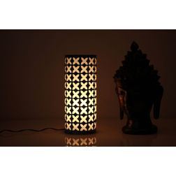 Aasra Decor Blue and Black Geomatric Design Table Lamp Lighting Table Lamp, multicolor