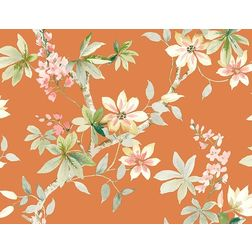 Elementto Wallpapers Floral Design Home Wallpaper For Walls cr20807, orange