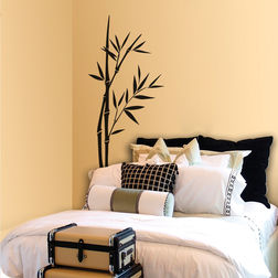 Kakshyaachitra The bamboo Tree Design Wall Stickers For Bedroom And Living Room, 48 96 inches