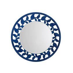 Aasra Decor Leaf Border Mirror Decor Wall Mirror, blue