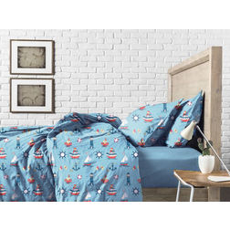 Bed in a bag BB4, double, sky blue