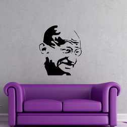 Kakshyaachitra Mahatma Gandhi Wall Stickers For Bedroom And Living Room, 48 57 inches