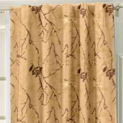 Antique Abstract Readymade Curtain - 27, brown, door