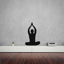 Kakshyaachitra Parvatasana Pose Wall Stickers For Bedroom And Living Room, 24 37 inches