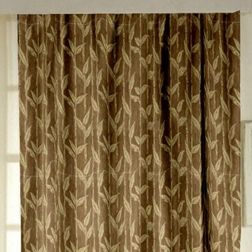 Constellation Floral Readymade Curtain - ZI104, window, brown