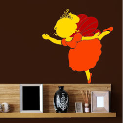 Wall Stickers For Kids ChipaKk Ballerina Fairy Orange FA8BS