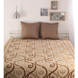 Dreamscape Polycotton Brown Classic Bedcover, without pillow cover, brown