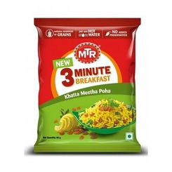 Khatta Meetha Poha Pouch (Serves 1) , Ready to eat meal, MTR Foods
