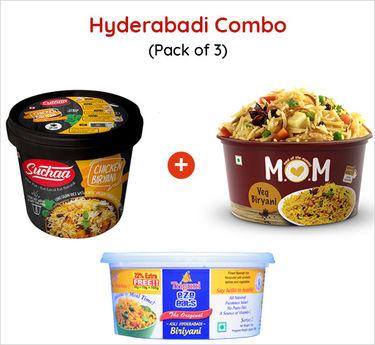 Hyderabadi Combo Veg and Non Veg Ready to eat (Serves 3) 265g