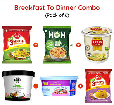 Breakfast to Dinner Combo Ready to eat (Serves 6) 428g