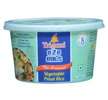 Veg Fried Rice (Serves 1) 66g, Ready to eat meals, Triguni Eze Eats