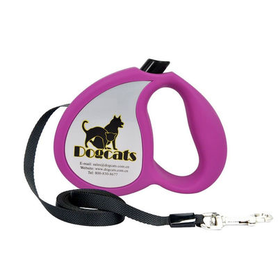 Dogcats Auto Retractable Nylon Braid Dog Leash, purple